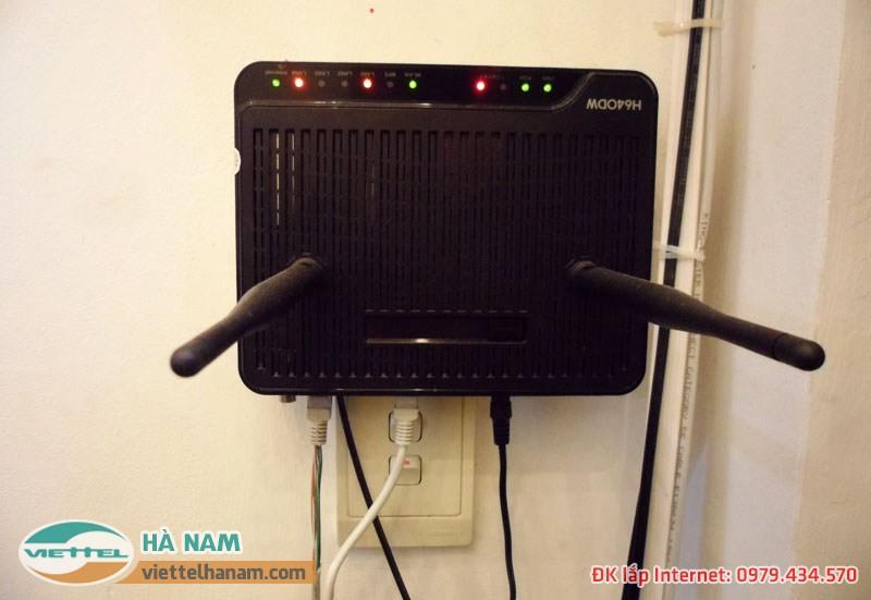 Lắp mạng Viettel được trang bị miễn phí wifi 4 cổng