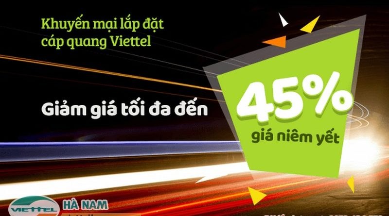Lắp mạng cáp quang Viettel tại Thanh Liêm, Hà Nam được giảm giá cực sốc